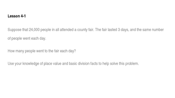 enVision Math Common Core Problem of the Day Slides, Grade 5, Topic 4