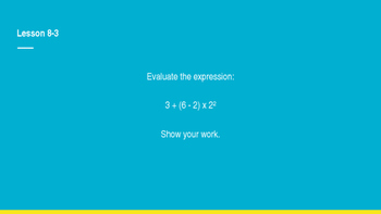 enVision Math Common Core Problem of the Day Slides, Grade 5, Topic 8