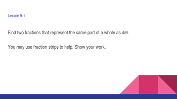 enVision Math Common Core Problem of the Day Slides, Grade 5, Topic 9