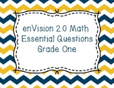 enVision Math 2.0 Essential Questions for Grade one