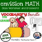 enVision Math 5th Grade Vocabulary Activities Bundle