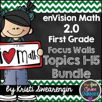 enVision Math 2.0 Focus Walls (First Grade) Compete Bundle