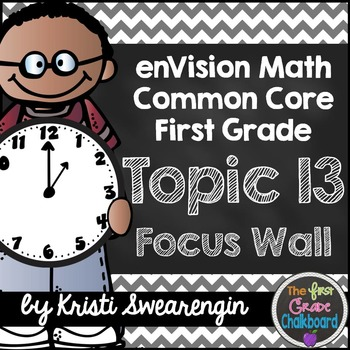 enVision Math First Grade Common Core Focus Wall Topic 13