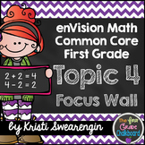 enVision Math First Grade Common Core Focus Wall Topic 4