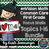 enVision Math First Grade Common Core Focus Walls Complete Bundle