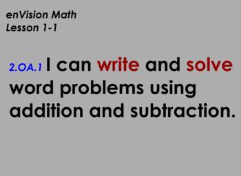 enVision Math Flipchart for Topic 1, Lesson 1, Grade 2