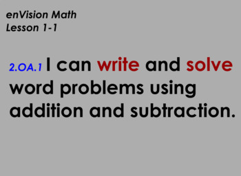 enVision Math Flipchart for Topic 1, Lessons 1-7, Grade 2