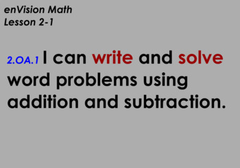 enVision Math Flipchart for Topic 2, Lessons 1-7, Grade 2
