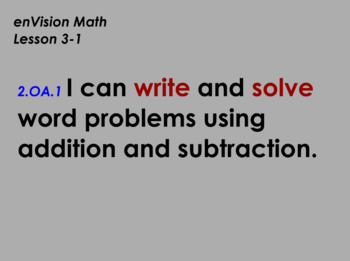 enVision Math Flipchart for Topic 3, Lessons 1-6, Grade 2