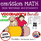 enVision Math 4th Grade Vocabulary 2009 version CLOZE and Crossword Bundle