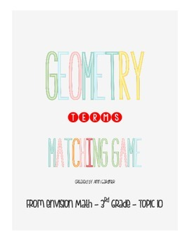enVision Math - Geometry Matching Terms - Topic 10 - 3rd Grade