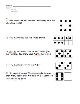 enVision Math Grade 1, Topic 1 Pre/Post-Assessment English