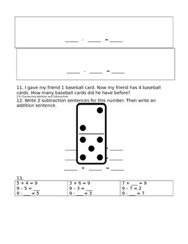 enVision Math Grade 1, Topic 2 Pre/Post-Assessment English
