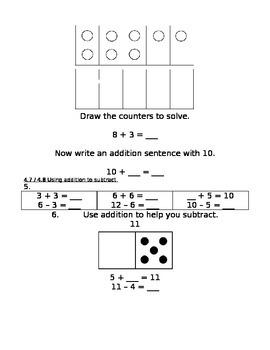 enVision Math Grade 1, Topic 4 Pre/Post-Assessment