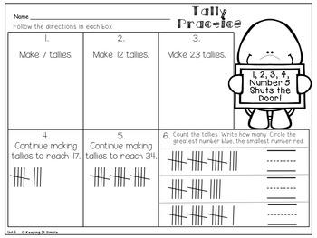 Grade 1 Math, Topic 6: Represent and Interpret Data