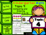 Kindergarten Math - Topic 4, Comparing and Ordering Number