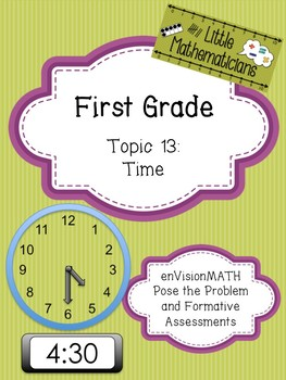 enVision Math Tasks and Formative Assessments First Grade