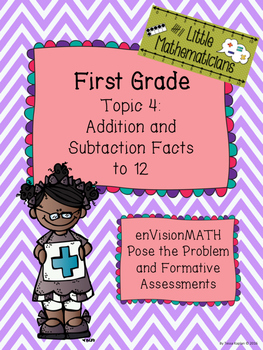 enVision Math Tasks and Formative Assessments First Grade Topic 4