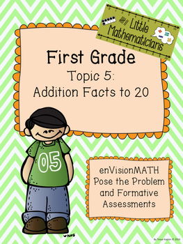enVision Math Tasks and Formative Assessments First Grade Topic 5