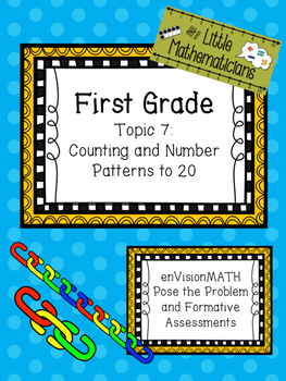 enVision Math Tasks and Formative Assessments First Grade Topic 7
