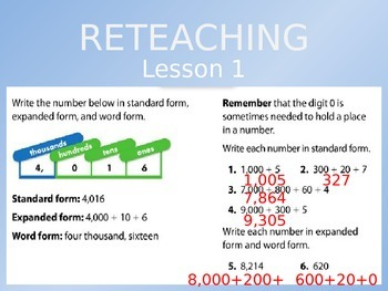 Common Core EnVision Math Third Grade Topic 1 Review PowerPoint