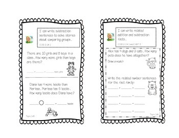 enVision Math -- Topic 1 Interactive Notebook Pages -- 2.OA.1