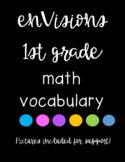 enVision Math Vocabulary Cards - 1st Grade