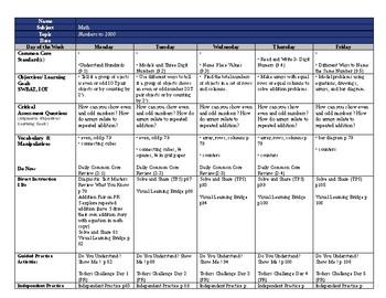 SDP enVision2.0 Topic 2 lesson plans