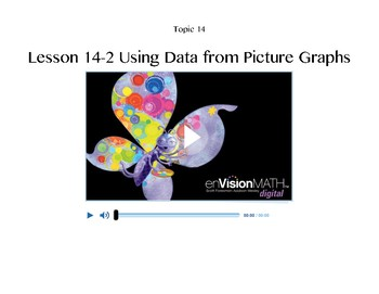 enVisionMATH Pearson Topic 14 Using Data to Answer Questions