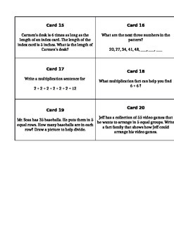 enVisionMATH Topic 1 Task Cards