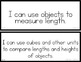 enVision Math 2.0 I Can Statements for Focus Walls 1st Grade
