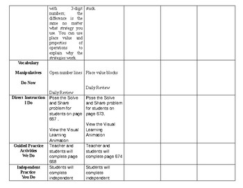 SDP enVisionmath2.0 Topic 11 lesson plans