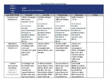 SDP enVisionmath2.0 Topic 15 lesson plans