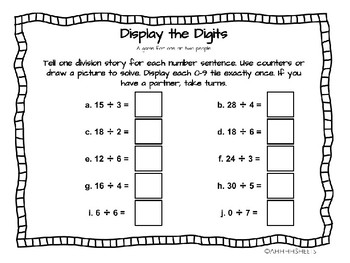 enVisions 2.0 3rd Grade Math Games Topic 5 - Fluently Multiply and Divide to 100