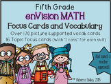 enVisions Math: 5th Grade Vocabulary Cards and Focus Walls