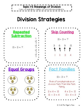 enVisions Math Grade 4 Anchor Charts / Interactive Notebook Pages Bundle