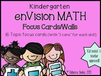 """Kindergarten enVisions Math: Focus """"I can"""" walls and Vocab"""