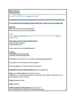 enVisions Math Topic 2 Grade 3 Lesson Plans