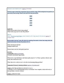 enVisions Math Topic 3 Grade 3 Lesson Plans