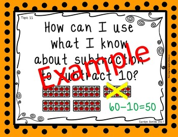 enVison math Essential Questions Topic 1-15  Posters First Grade