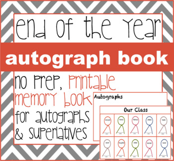 end of the year class autograph book