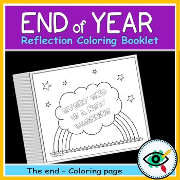 End of year activity reflection booklet