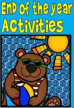 end of year activities for kindergarten(free sheet included)