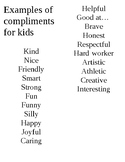end of year compliment activity