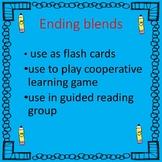 Ending Blends, I have Who has?, letter cards