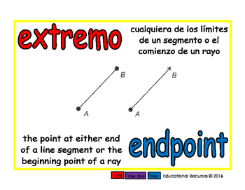 endpoint/extremo geom 1-way blue/rojo