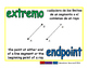 endpoint/extremo geom 1-way blue/verde