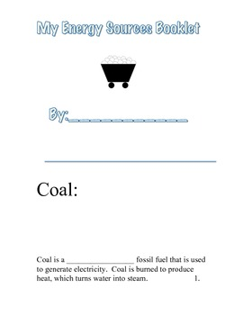 energy source booklet