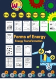 energy forms and energy transformation set potential ,ligh