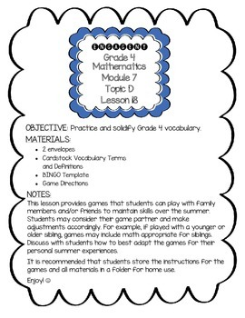 EngageNY 4th Grade Math Module 7 Topic D Lesson 18